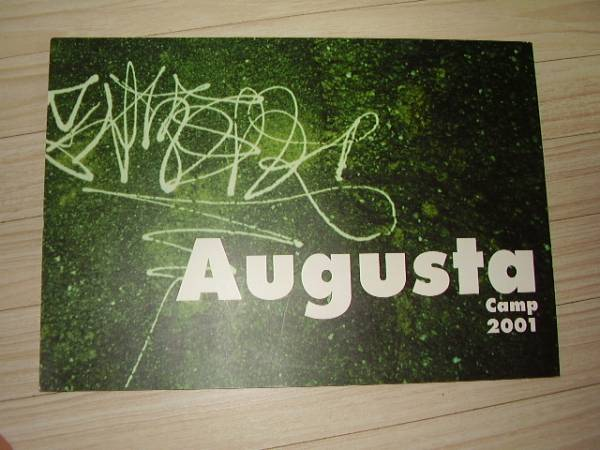 AugustaCamp2001パンフ☆山崎まさよし杏子元ちとせスガシカオ