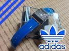 ■新品 adidas アディダス オリジナルス 60's 腕時計 本革 エナメル デジタル オールドスクール オリジナルブルー