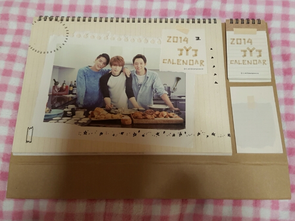 JYJ カレンダー ダイアリー 2014 ジェジュン ユチョン ジュンス ライブグッズの画像