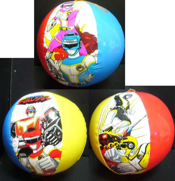 ビーチボール/高速戦隊ターボレンジャー/ゴム付/40cm/1989年新品_画像2