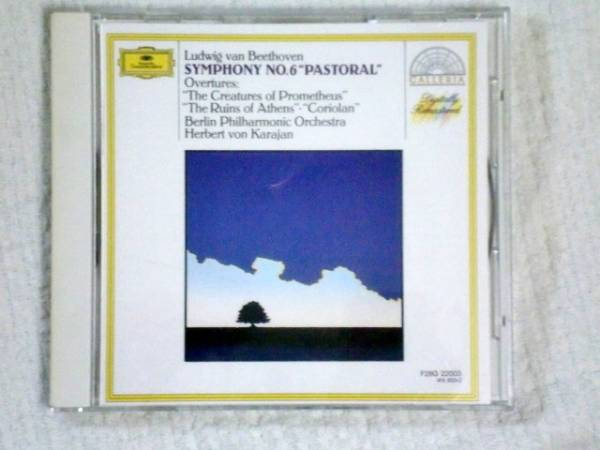 CD ベートーヴェン:交響曲6田園/カラヤン/BPO_画像1