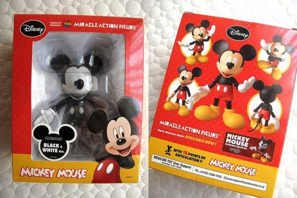 未開封 ディズニー ミッキーマウス モノクロ黒白 アクション フィギュア メディコムトイ TOY ディズニーグッズの画像