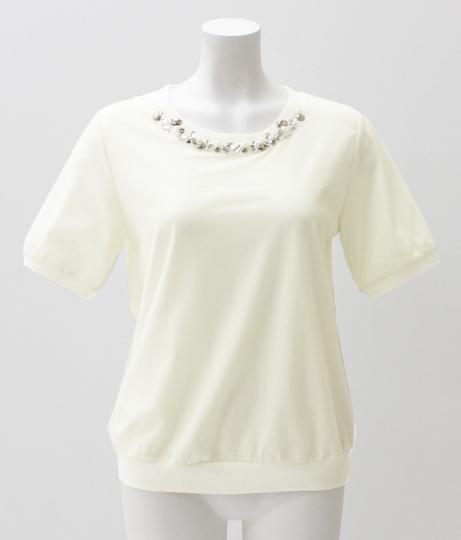 AULIビジュー付Tシャツ白新品タグ付きANAPアナップGUイング好き