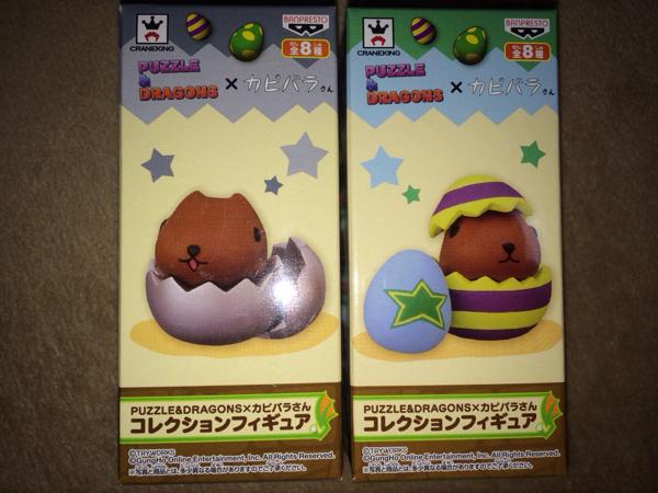 パズドラ カピバラさん コレクションフィギュア 銀 2種 一番くじ グッズの画像