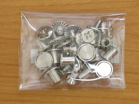 シカゴスクリュー(組ネジ)4.5×6 10組セットbコンチョ製作金具屋_画像3