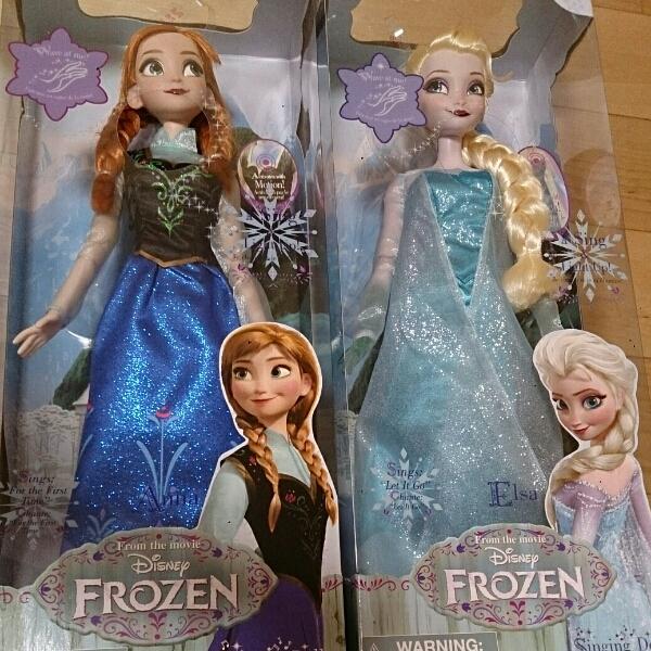 【お顔厳選】新品 アナ雪 シンギングドール エルサ アナ ペア★ アナと雪の女王 Frozen ディズニー ストア ディズニーグッズの画像