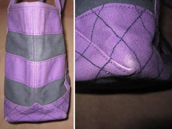 ラルフローレン BIG PONY ビッグポニー刺繍 重厚トートバッグ 紫/紺 ポロラルフローレン(株)_画像3
