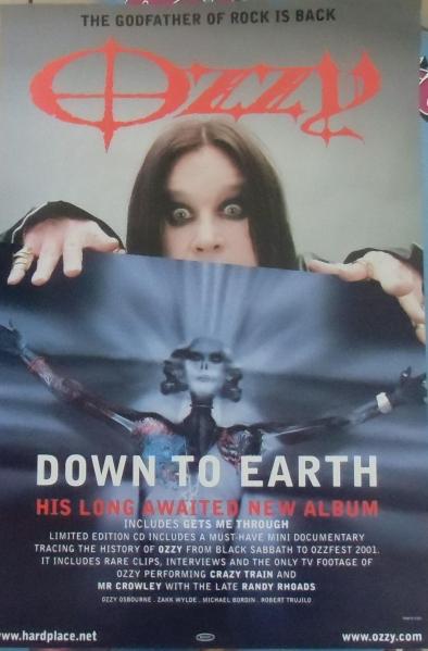オジー・オズボーン 「DOWN TO EARTH」 輸入ポスター