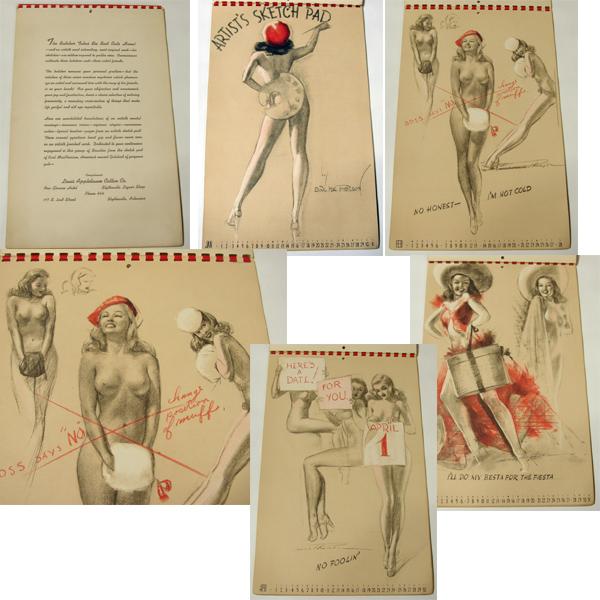 ビンテージ ピンナップ 12 カレンダー/ 50's,ロカビリー,FIFTIES,エルビス,40's,バーガス,A-2,PIN-UP,HOT ROD,ピンアップ,アンティーク_画像1