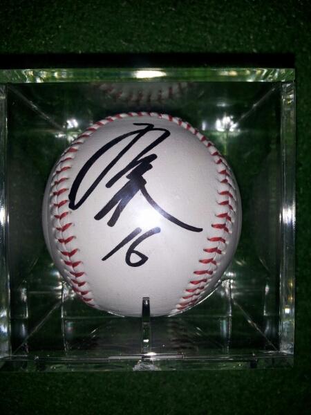 北海道日本ハム16 有原航平投手 直筆サインルーキーイヤー記念球