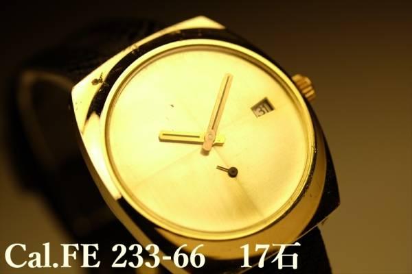 無名 アンティーク時計 手巻 スモセコ Cal.FE233-66 1970'S 送無