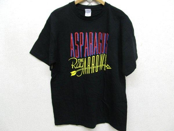 ASPARAGUS THE RAY ARROWS プリントTシャツ黒Lt6464