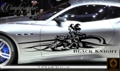 黒騎士カーステッカー133■バイナルグラフィック車ワイスピ系