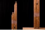 絵画 キャンバス 古材 杉材木枠 F50号 マルオカ, 絵具 画材 画枠