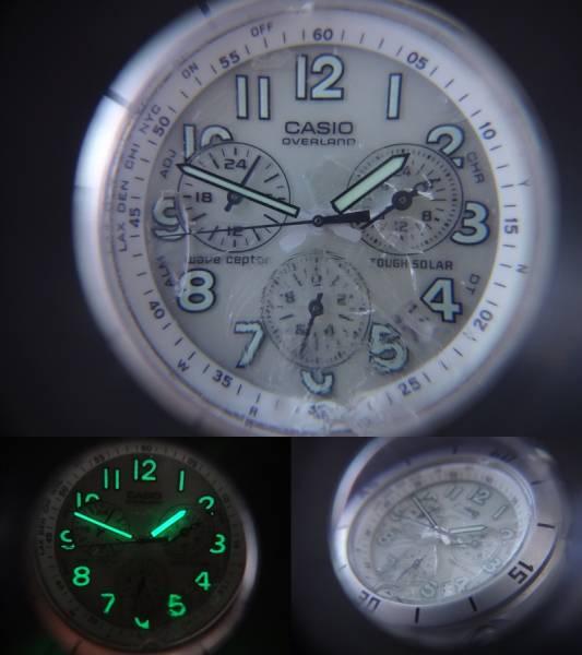 △▲CASIO OVER LAND カシオ オーバーランド 電波ソーラー 腕時計 OVW-600 4349 ジャンク_画像3
