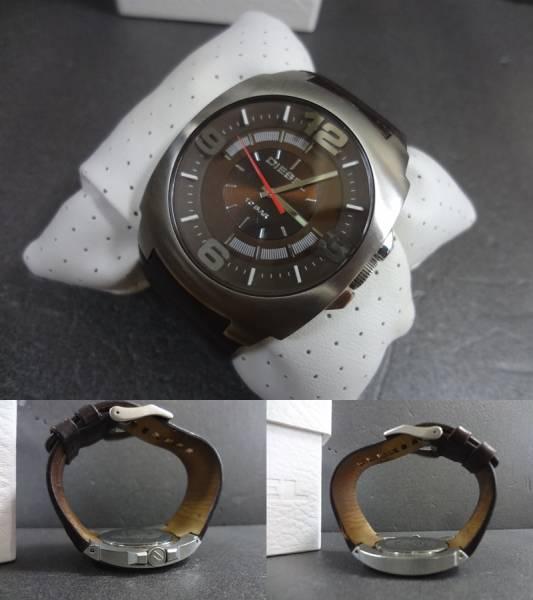 □■DIESEL ディーゼル ビックフェイス 腕時計 DZ-1145 ジャンク_画像2