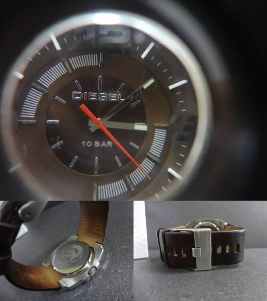 □■DIESEL ディーゼル ビックフェイス 腕時計 DZ-1145 ジャンク_画像3