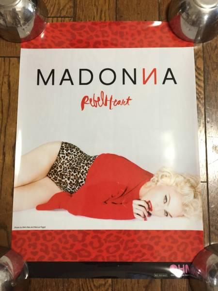 非売品 特典 ★ マドンナ Rebel Heart ★ MADONNA × HMV25周年記念 特製A3 クリア・ポスター