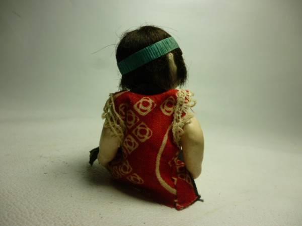 時代物 這い這い人形赤着物 約11cm 御所人形ミニチュア豆人形_画像2