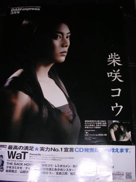 柴咲コウ DAM 2006年3月 B1サイズ 特大ポスター