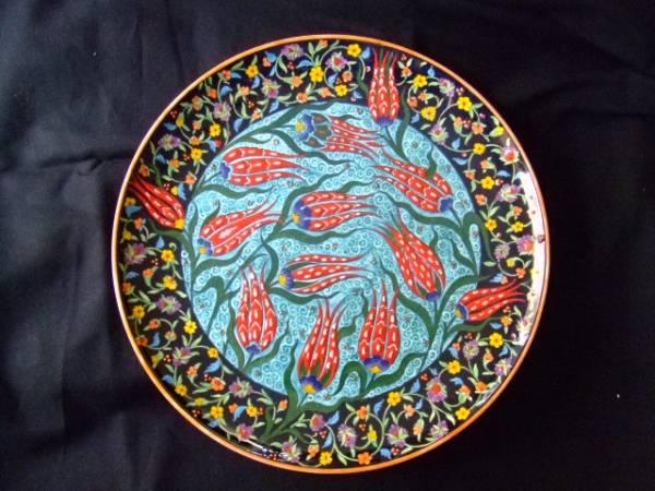 海外雑貨 トルコ 壁掛け飾り皿 送料無料 【Pza】00_画像1