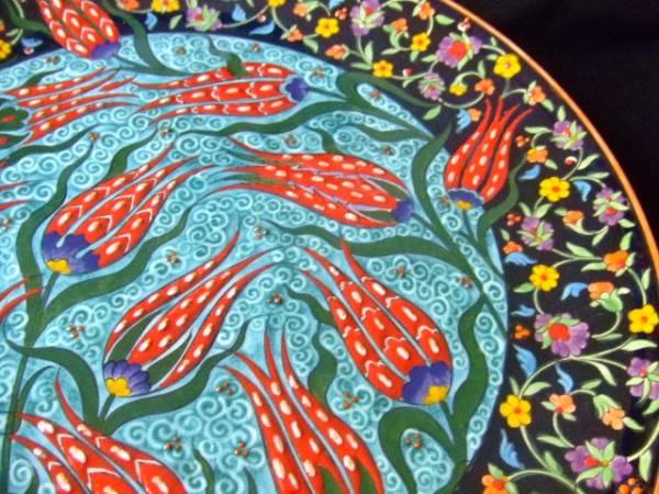 海外雑貨 トルコ 壁掛け飾り皿 送料無料 【Pza】00_画像3