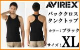 AVIREX Avirex back Cross tank top XL black black BLACK new goods DAILY TANK TOP Avirex