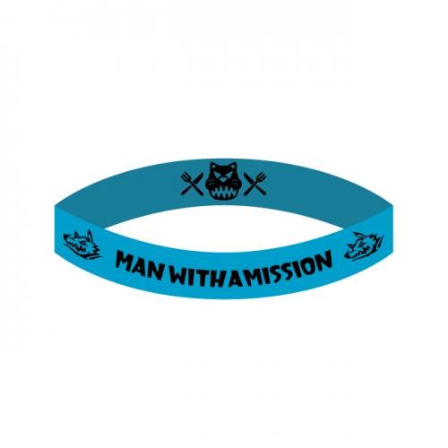 新品 ラバーバンド 青色 MAN WITH A MISSION ラババン