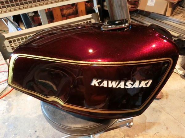 Z1000MK2 750FX1 外装 タンク 塗装依頼 ラップ塗装もOK!_金ラメOK
