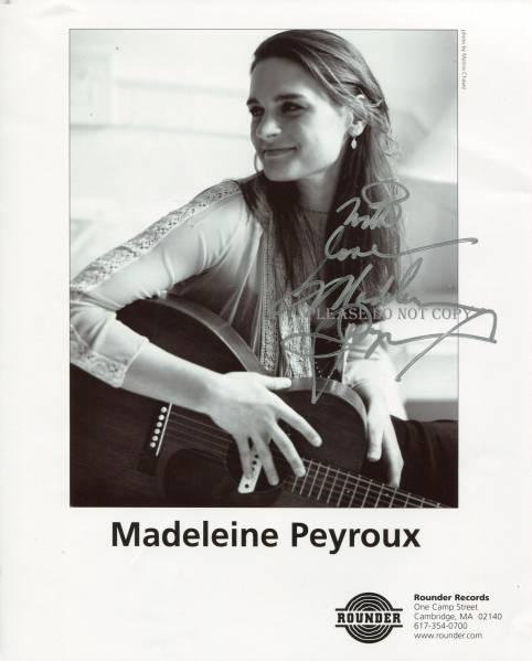 Madeleine Peyroux マドリン・ペルー サイン フォト