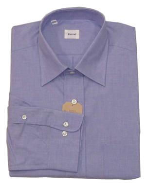 新品 綿100%エンドオンエンド セミワイドシャツ LT.Blue 15(38)_新品