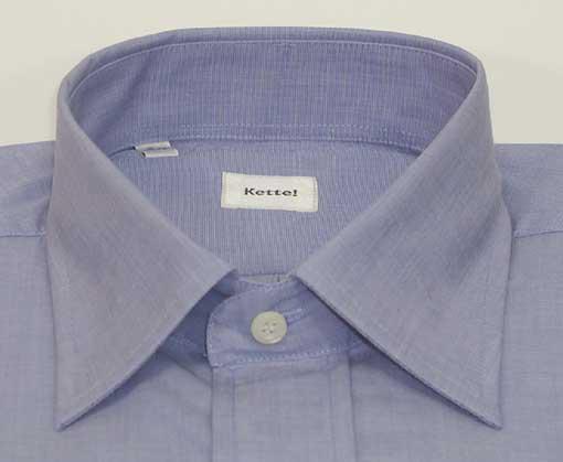 新品 綿100%エンドオンエンド セミワイドシャツ LT.Blue 15(38)_セミワイドカラー
