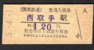 (関東鉄道)西取手駅120円