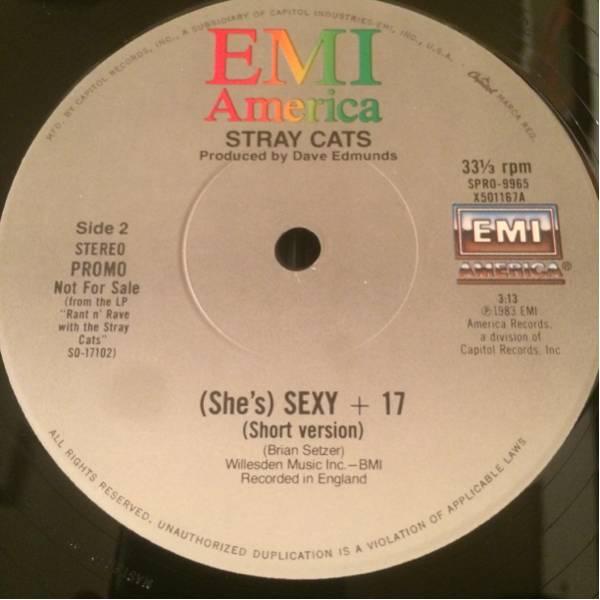 STRAY CATS Promo 12inch SEXY & 17 (long & short) ロカビリー_画像2