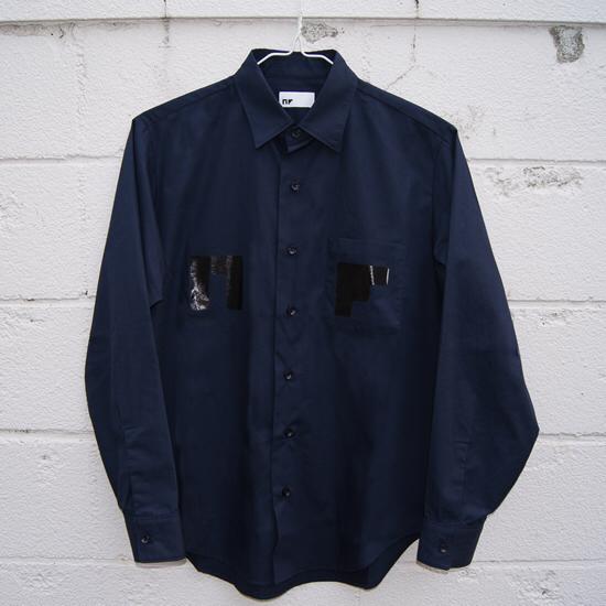サカナクション NFシャツ ブルゾンシャツ ネイビー Mサイズ 新品 ライブグッズの画像