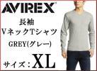 AVIREX Avirex long sleeve V neck T-shirt XL gray GREY grey Avirex long T