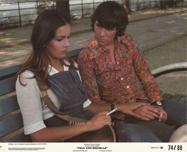 1974年 続・フレンズ ポールとミシェル ロビーカード 2枚 付き