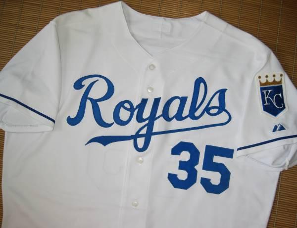 MLB 2007カンザスシティ・ロイヤルズ~#35エミル・ブラウン Emil Brown(ニューヨーク・メッツ~実使用ユニフォーム/ジャージ/ホーム用 青木 グッズの画像