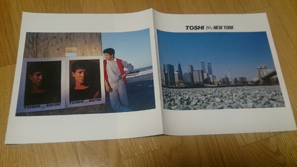 田原俊彦 10Rニューヨーク LPサイズ オールカラー8ページ