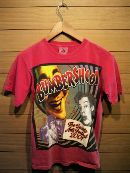 米国製 BUMBER SHOOT 2001 Tシャツ ビンテージ L anvil レッド