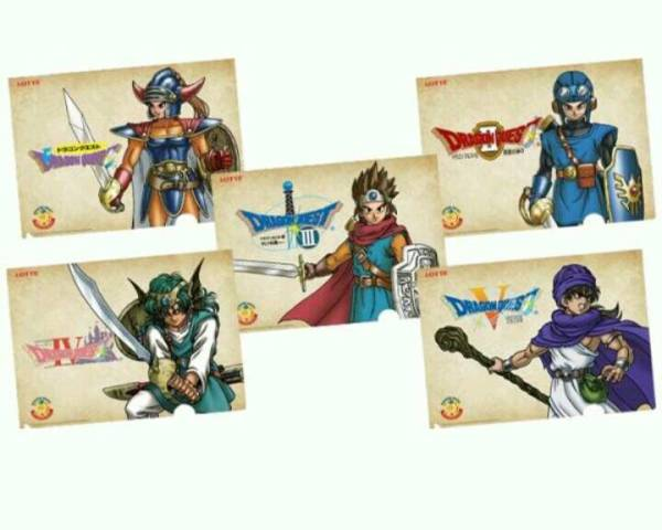 ドラゴンクエストクリアファイル5枚数 送料205円 グッズの画像