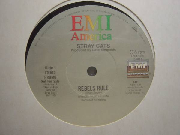 STRAY CATS PROMO 12inch REBELS RULE ロカビリー ストレイキャッツ_画像1