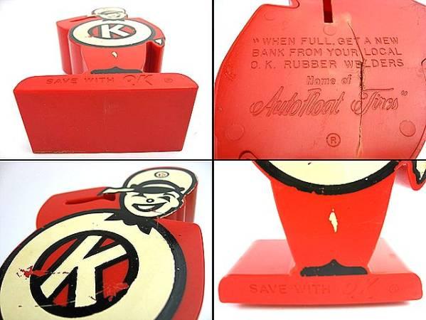 1960's OK サービスマン ビンテージ 貯金箱 アドバタイジング HOTROD ホットロッド 1932 デュース MODEL A T フラットヘッド 千里浜 MOON_60's OK サービスマン ビンテージ貯金箱!