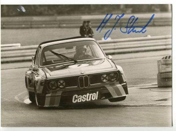 BMW・3.0CSL ハンス ヨアヒム・スタック 直筆サイン カード