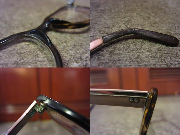 ビンテージ60's★鼈甲柄フレーム眼鏡★50's70'sサングラス古着卸_画像3