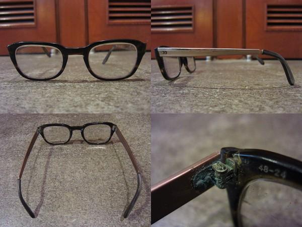 ビンテージ60's★鼈甲柄フレーム眼鏡★50's70'sサングラス古着卸_画像2
