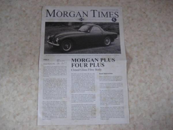 モーガンタイムズ1963年版・稀少品・英国車★MGミニローバーMINI_希少価値のある資料です