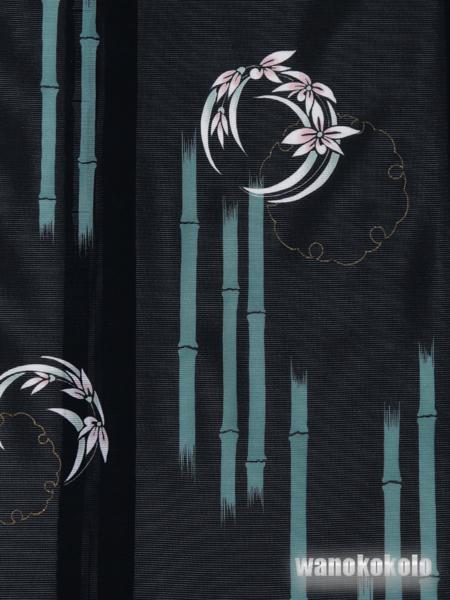 【和の志】夏の洗える着物◇絽・付下◇黒系・雪輪柄◇KRT102_画像2