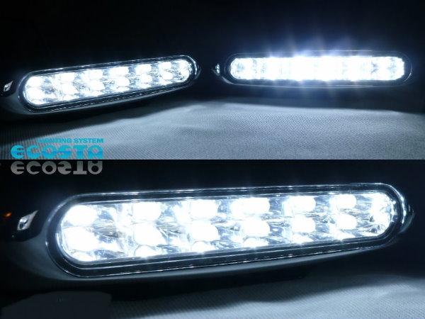 LED デイライト 白 208 3008 308 5008 508 RCZ 407 207 206 307_《1年保証付》