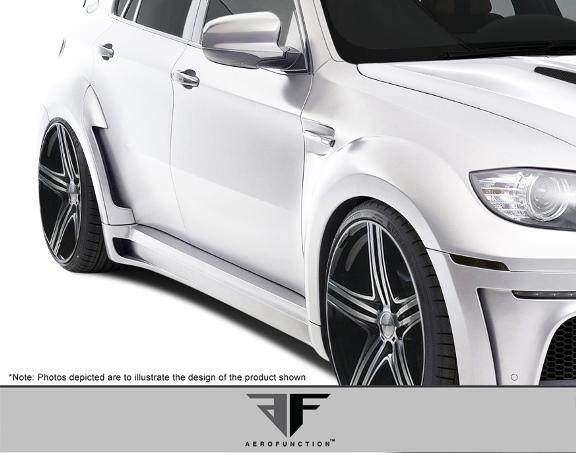 2008-14 BMW X6 E71 AF-5 Aero Function ワイドボディキット エアロ 16点セット フロント/リア バンパー オーバーフェンダー スカートなど_画像4